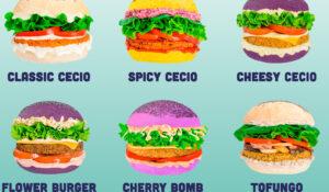 vegan flower burger