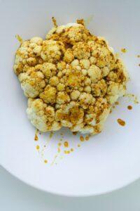 cauliflower with brown sauce