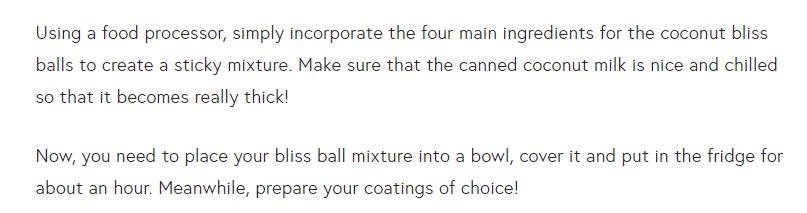 bliss balls procedure 1