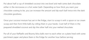 bliss balls procedure 2