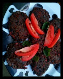 black bean and soy chorizo patties