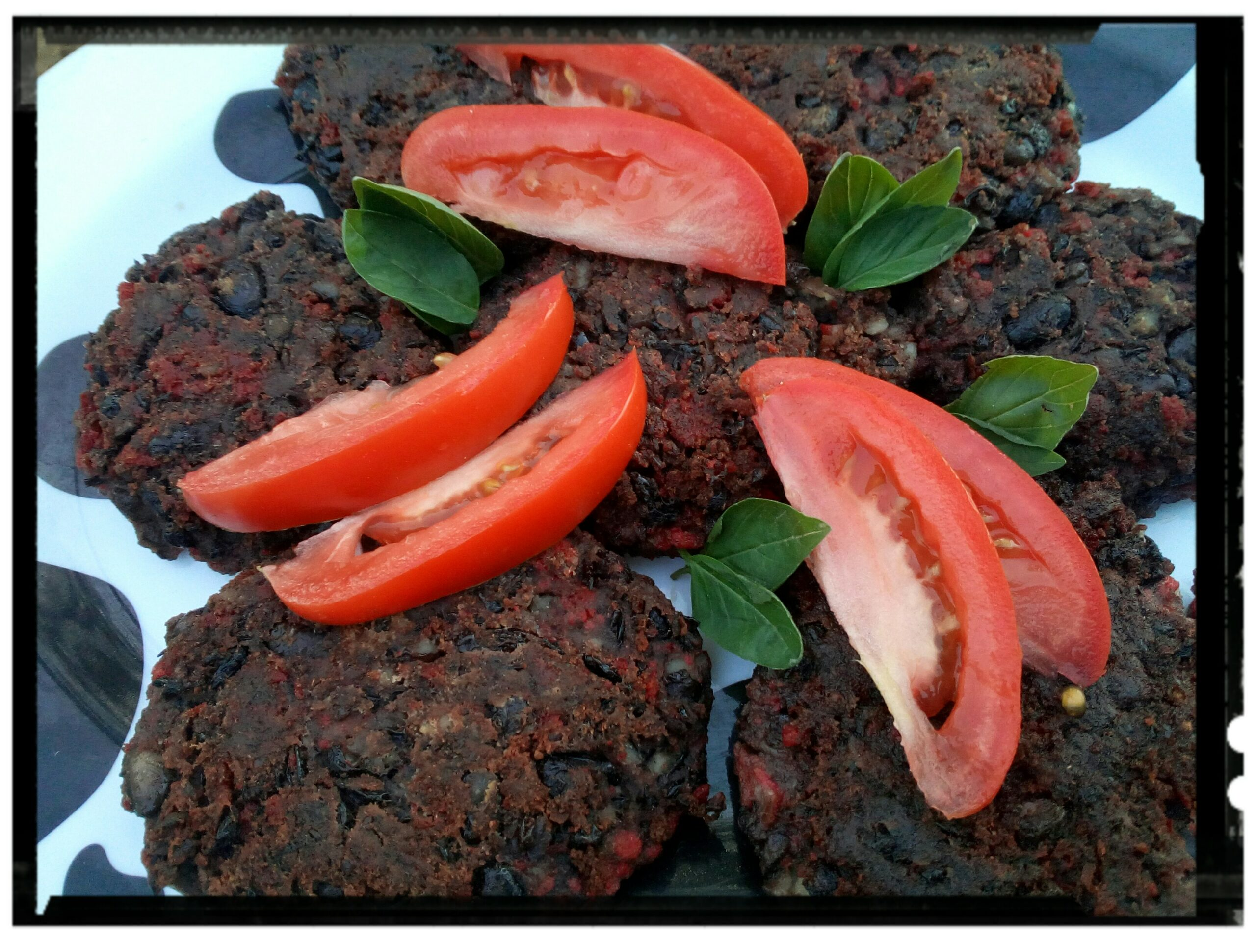 black bean and soy chorizo patties