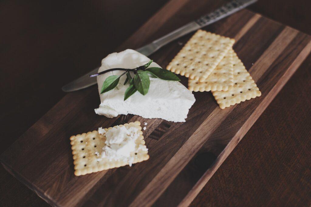vegan cheese on cracker